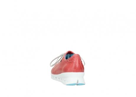 wolky sneakers 2051 mega 357 rot sommer leder_6