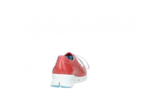 wolky sneakers 2051 mega 357 rot sommer leder_8