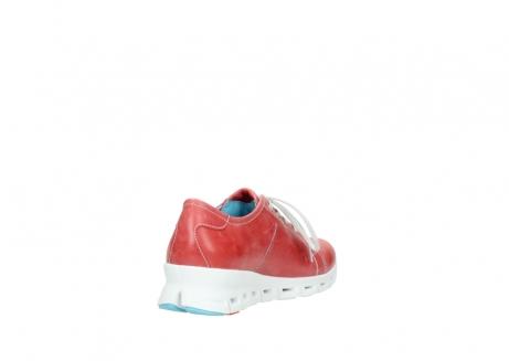 wolky sneakers 2051 mega 357 rot sommer leder_9