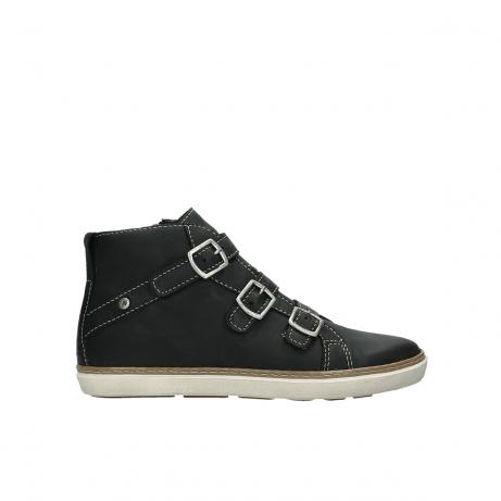 wolky sneakers 9455 vancouver 500 zwart geolied leer