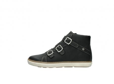 wolky sneakers 9455 vancouver 500 zwart geolied leer_1
