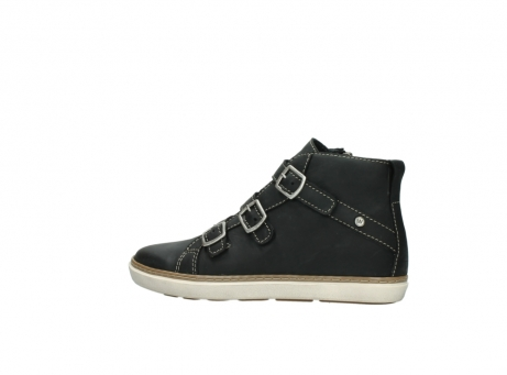 wolky sneakers 9455 vancouver 500 zwart geolied leer_2