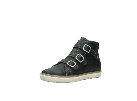 wolky sneakers 9455 vancouver 500 zwart geolied leer_22