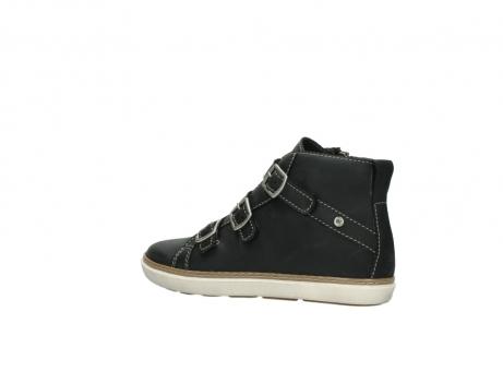 wolky sneakers 9455 vancouver 500 zwart geolied leer_3