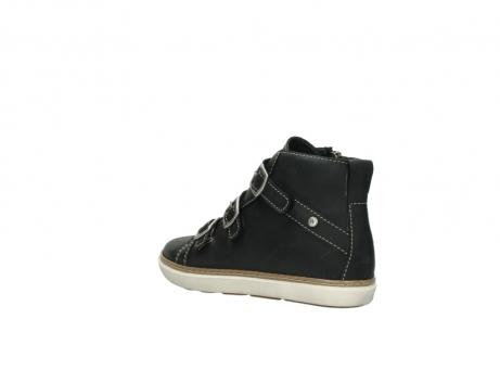 wolky sneakers 9455 vancouver 500 zwart geolied leer_4