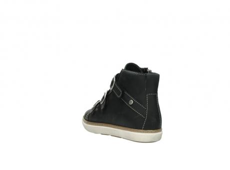 wolky sneakers 9455 vancouver 500 zwart geolied leer_5