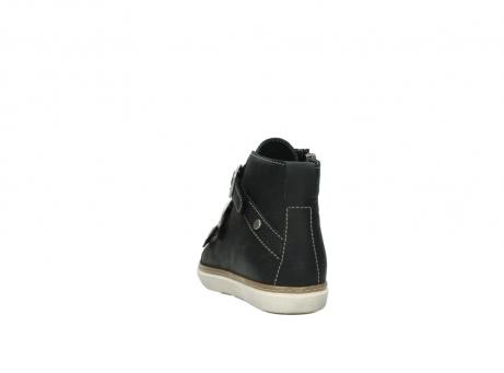 wolky sneakers 9455 vancouver 500 zwart geolied leer_6