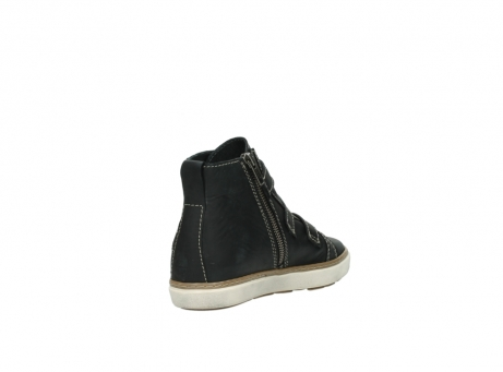 wolky sneakers 9455 vancouver 500 zwart geolied leer_9