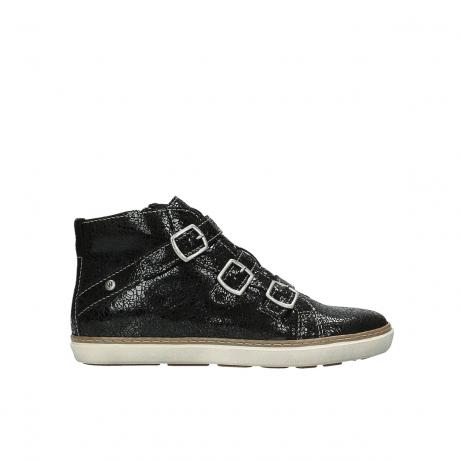 wolky sneakers 9455 vancouver 900 zwart craquele leer