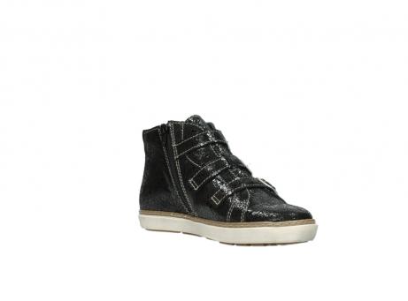 wolky sneakers 9455 vancouver 900 zwart craquele leer_16