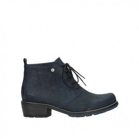 wolky lace up boots 00534 indus 11802 blue oiled nubuck