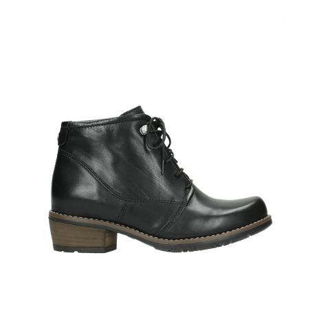 wolky lace up boots 00565 real 30000 black leather