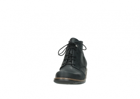 wolky lace up boots 00565 real 30000 black leather_20
