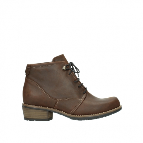 wolky lace up boots 00565 real 50300 brown oiled leather