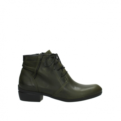 wolky lace up boots 00951 el dorado 50732 forestgreen leather