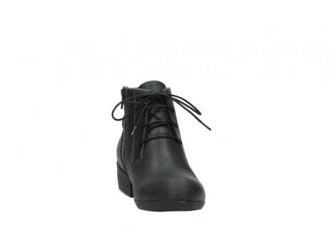 wolky lace up boots 00951 el dorado 50002 black leather_18