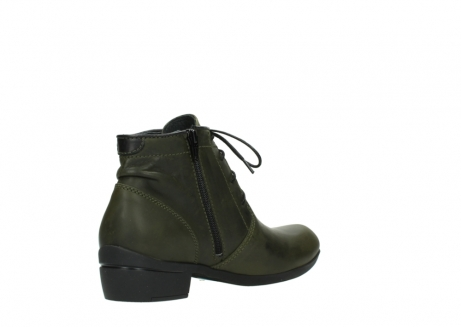 wolky lace up boots 00951 el dorado 50732 forestgreen leather_10