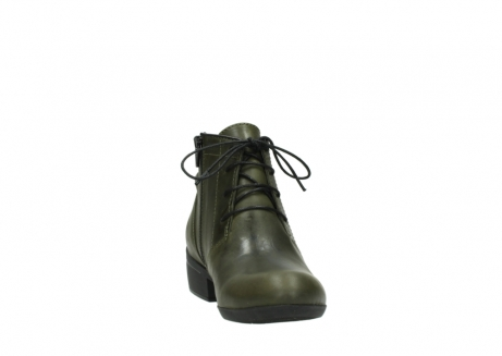 wolky lace up boots 00951 el dorado 50732 forestgreen leather_18