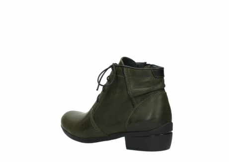 wolky lace up boots 00951 el dorado 50732 forestgreen leather_4