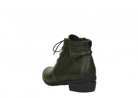 wolky lace up boots 00951 el dorado 50732 forestgreen leather_5