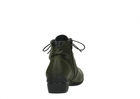 wolky lace up boots 00951 el dorado 50732 forestgreen leather_8