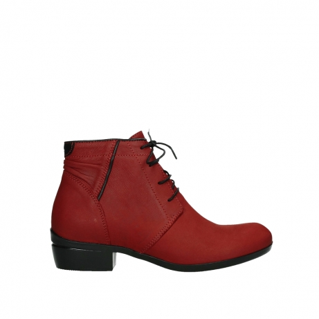 wolky lace up boots 00955 delano 13505 dark red nubuckleather