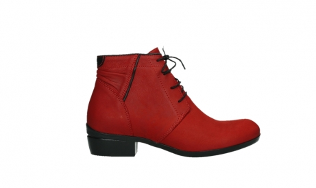 wolky lace up boots 00955 delano 13505 dark red nubuckleather_1