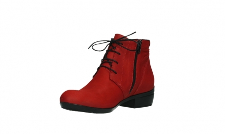 wolky lace up boots 00955 delano 13505 dark red nubuckleather_10