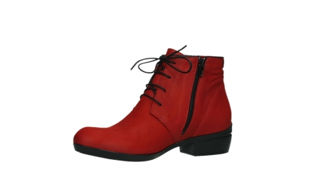 wolky lace up boots 00955 delano 13505 dark red nubuckleather_11