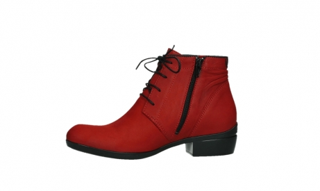 wolky lace up boots 00955 delano 13505 dark red nubuckleather_12