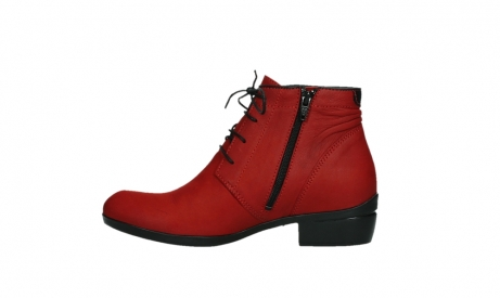 wolky lace up boots 00955 delano 13505 dark red nubuckleather_13
