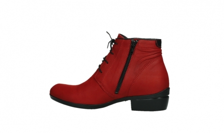 wolky lace up boots 00955 delano 13505 dark red nubuckleather_14