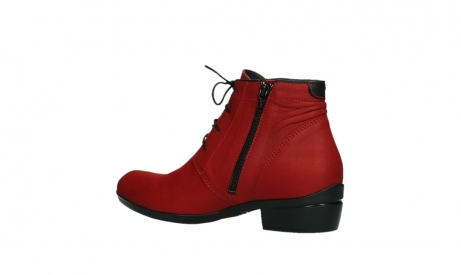 wolky lace up boots 00955 delano 13505 dark red nubuckleather_15