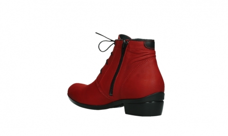 wolky lace up boots 00955 delano 13505 dark red nubuckleather_16