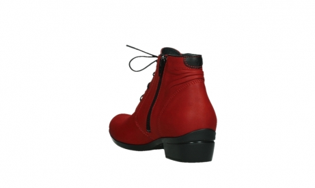 wolky lace up boots 00955 delano 13505 dark red nubuckleather_17