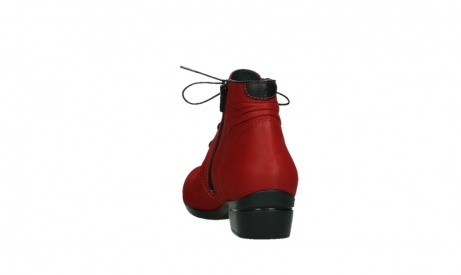 wolky lace up boots 00955 delano 13505 dark red nubuckleather_18
