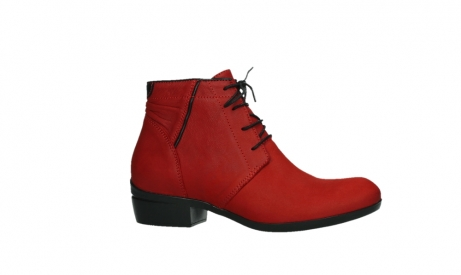 wolky lace up boots 00955 delano 13505 dark red nubuckleather_2