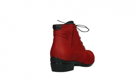 wolky lace up boots 00955 delano 13505 dark red nubuckleather_21
