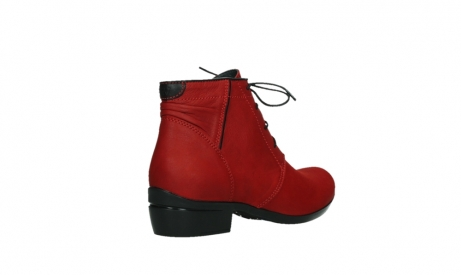 wolky lace up boots 00955 delano 13505 dark red nubuckleather_22