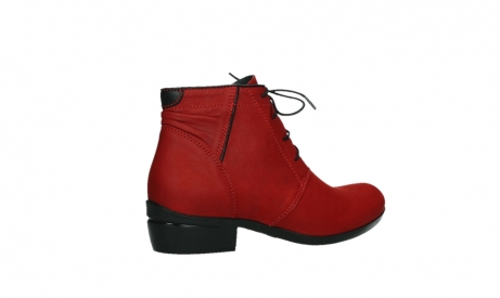 wolky lace up boots 00955 delano 13505 dark red nubuckleather_23