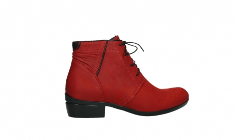 wolky lace up boots 00955 delano 13505 dark red nubuckleather_24