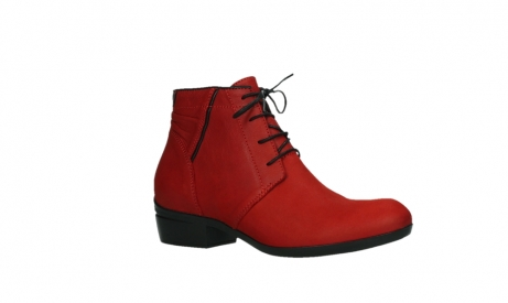 wolky lace up boots 00955 delano 13505 dark red nubuckleather_3