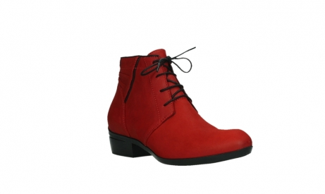 wolky lace up boots 00955 delano 13505 dark red nubuckleather_4