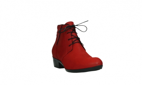 wolky lace up boots 00955 delano 13505 dark red nubuckleather_5