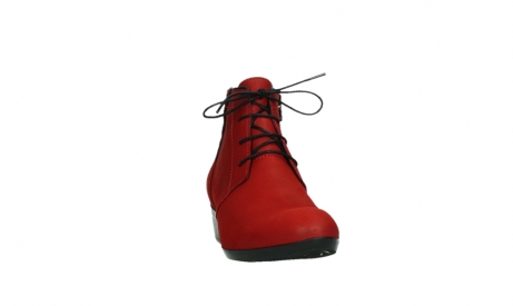 wolky lace up boots 00955 delano 13505 dark red nubuckleather_6