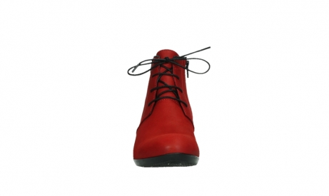 wolky lace up boots 00955 delano 13505 dark red nubuckleather_7