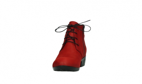 wolky lace up boots 00955 delano 13505 dark red nubuckleather_8