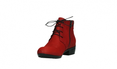 wolky lace up boots 00955 delano 13505 dark red nubuckleather_9