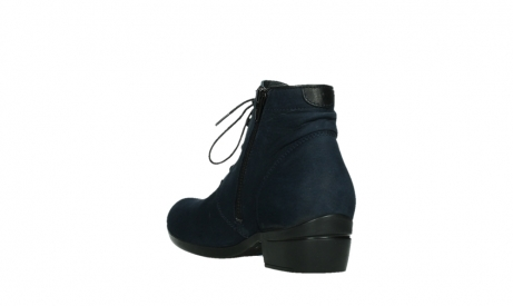 wolky lace up boots 00955 delano 13800 blue nubuckleather_17