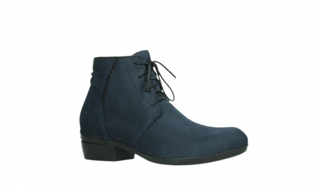 wolky lace up boots 00955 delano 13800 blue nubuckleather_3